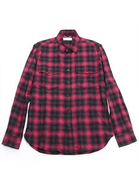 サンローランパリ 16AWチェックフランネルシャツ